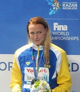 Sarah Sjöström Swedish swimmer