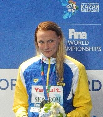 Sarah Sjöström - Sjöström in 2015