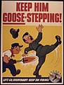 Keep him goose-stepping^ Let's go, everybody^ Keep `em firing^ - NARA - 534762.jpg