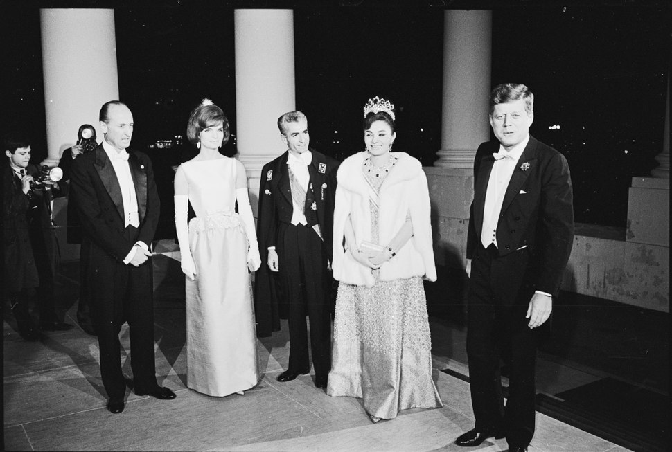 Kennedy%27s welcome Shah of Iran to W. House digital file from original item