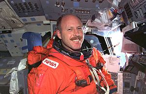 Ken Bowersox -  Bowersox pictured during STS-73, prior to re-entry