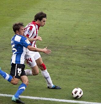 Javi Martínez - Martínez (right) in action for Athletic Bilbao in 2010