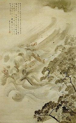 Kikuchi Yoosai - Mongol Invasion (mōko shūrai) - Tokyo National Museum.jpg