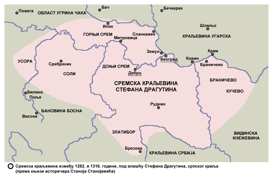 Kingdom of syrmia according to stanoje stanojevic-sr