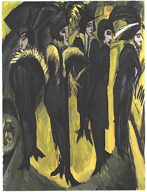 New Secession - Ernst Ludwig Kirchner: Fünf Frauen auf der Straße, 1913