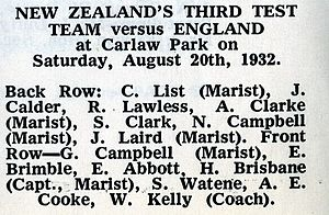 1932 New Zealand rugby league season - Image: Kiwis 1932super
