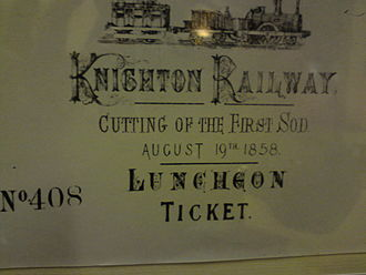Knighton, Powys - Arrival of the railway