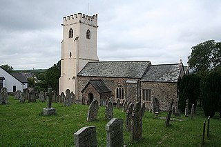 Knowstone village in United Kingdom