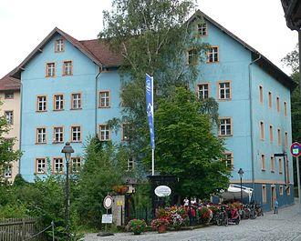 Kulmbach - The Kulmbacher Genossenschaftsbrauerei common brewery in an old mill