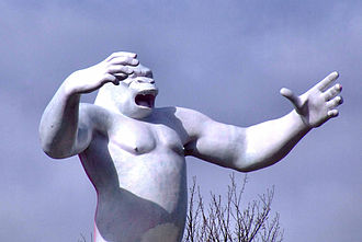 King Kong statue - The repaired and repainted statue, at Penrith, in April 2008