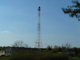 Warsaw radio mast - Radio relay tower used for radio relay link to studio in Warsaw