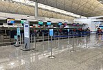 Korean Air check-in counters at VHHH T1 (20180903152640).jpg