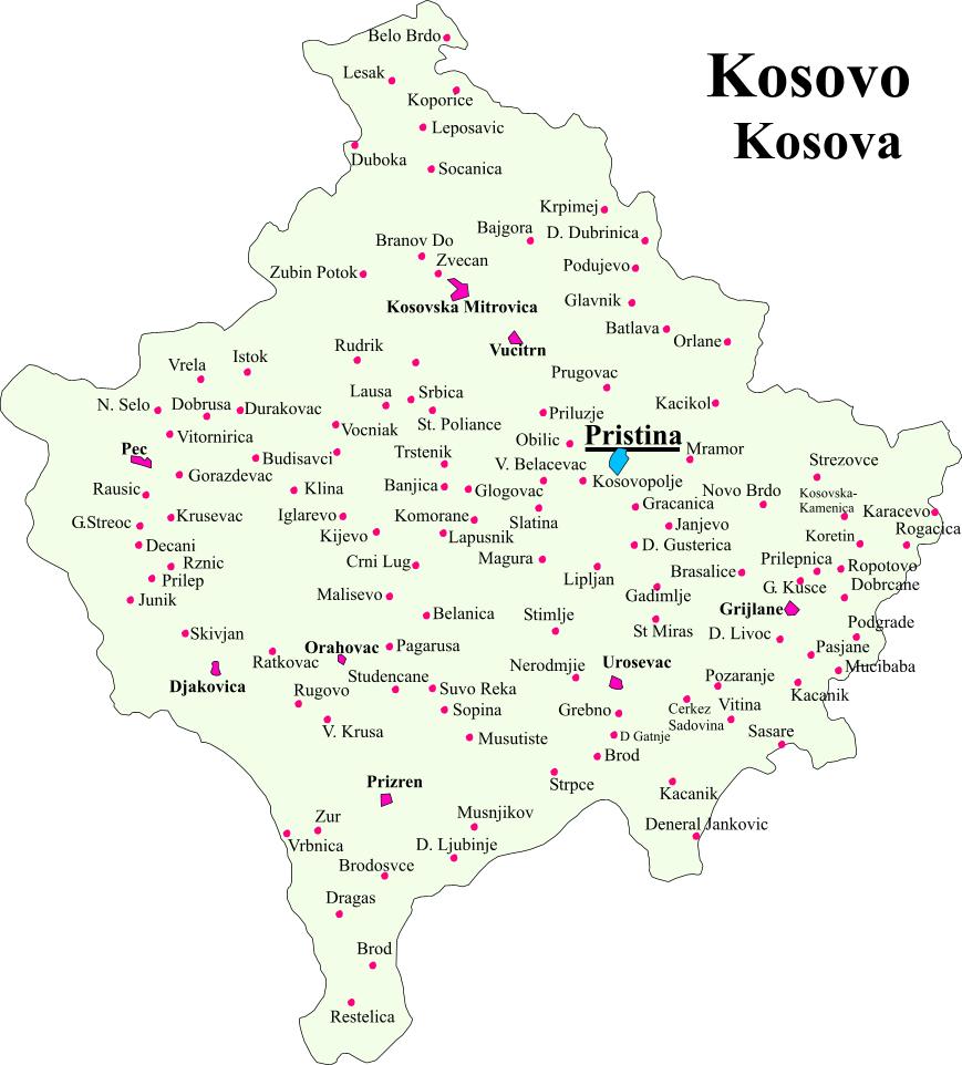 Kosovo-Municipalities