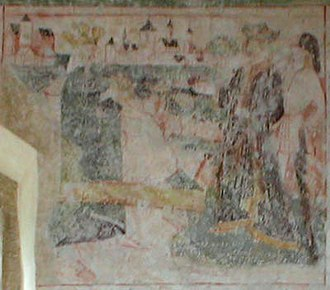 Bad Wimpfen - Wall drawings in the Duttenberg chapel from the 15th century show the oldest known view of Wimpfen