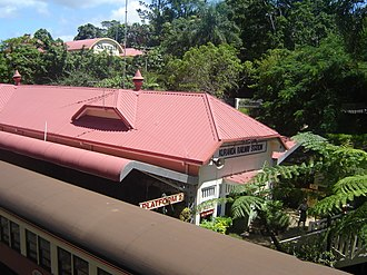 Kuranda, Queensland - Kuranda railway station with scenic rail on the left