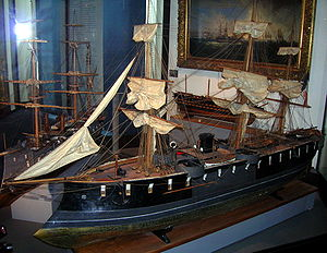 French ironclad Suffren - Image: L'Ocean ironclad model