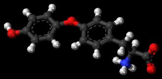 Thyronine - Image: L Thyronine zwitterion 3D ball