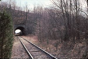 Lehigh and Hudson River Railway - Image: LHR under Cut Off