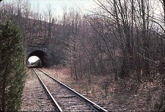 Lehigh and Hudson River Railway - Image: LHR under Cut Off