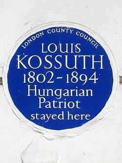 Photo of Louis Kossuth blue plaque