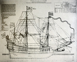 French ship Couronne (1636) - Image: La Couronne mg 0349