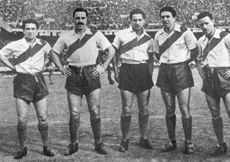 Club Atlético River Plate - La Máquina in 1941. Fltr: Muñoz, Moreno, Pedernera, Labruna, Loustau
