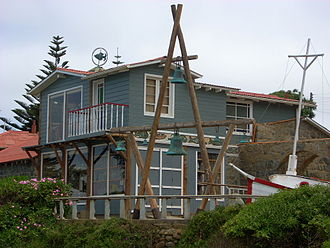 Beach house - Casa de Isla Negra, Pablo Neruda's famous beach house located at Isla Negra, now a historic house museum and tourist attraction.