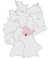 Lage des Landkreises Hildburghausen in Deutschland.png