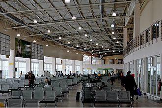 Murtala Muhammed International Airport - Main Departures Hall in Domestic Terminal.