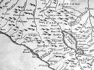 Life zones of Peru - Image: Lake Titicaca Jacques Nicolas Bellin 1758