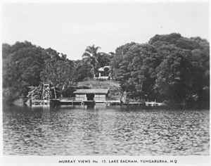 Lake Eacham - Lake Eacham guest house circa 1940