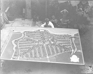 Lakeshore/Lake Vista, New Orleans - WPA relief map of Lake Vista, 1936