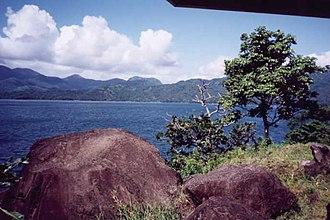 Lake Buhi - Image: Lake Buhi Buenavista Volcanic Rocks