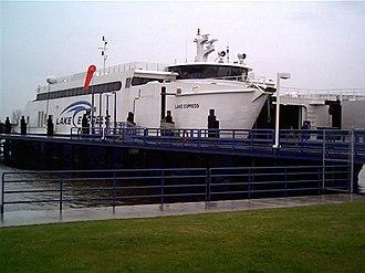 Ferries in Michigan - Lake Express at dock