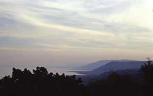 Lake Manyara - Lake Manyara, the cliff after the sunset.