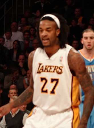Jordan Hill (basketball) - Hill with the Lakers in January 2013