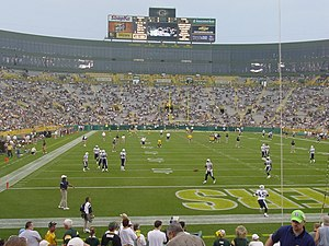 2003 NFL season - Tennessee at Green Bay in the preseason; both teams made the playoffs