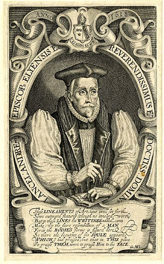 Lancelot Andrewes - Portrait of Andrewes by Simon de Passe. Engraving