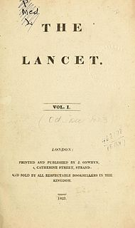 <i>The Lancet</i> Peer-reviewed general medical journal