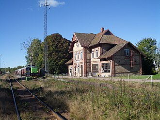 Landeryd - Train station in Landeryd (2013)