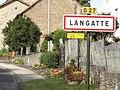 Langatte (Moselle) city limit sign.jpg
