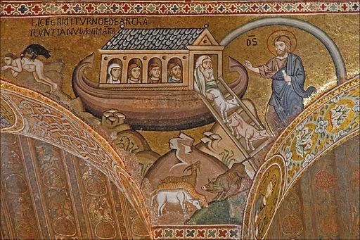 Larche de Noé (mosaïques de la Chapelle palatine, Palerme) (7026706823)