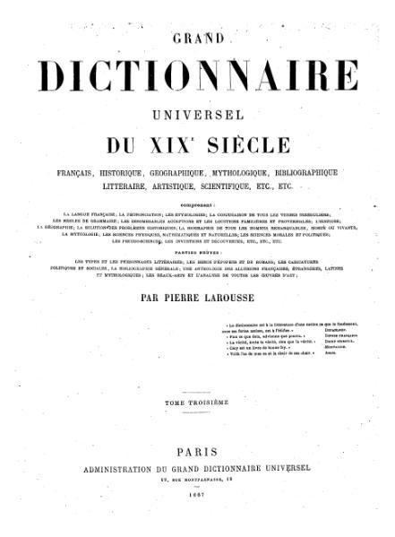 File:Larousse - Grand dictionnaire universel du XIXe siècle - Tome 3, part. 2, Caq-Cel.djvu