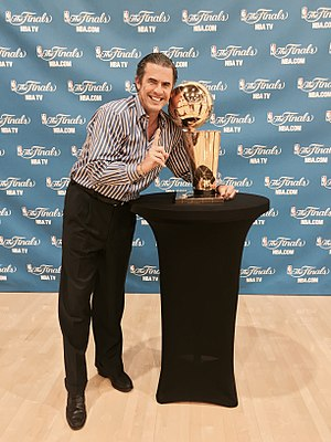 Larry Harris (basketball) - Harris with the Larry O'Brien Championship Trophy