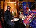 Laurence caruana in his Bastille studio.jpg