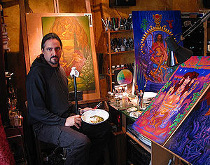 Laurence Caruana - Artist L. Caruana in his Bastille studio, Paris.