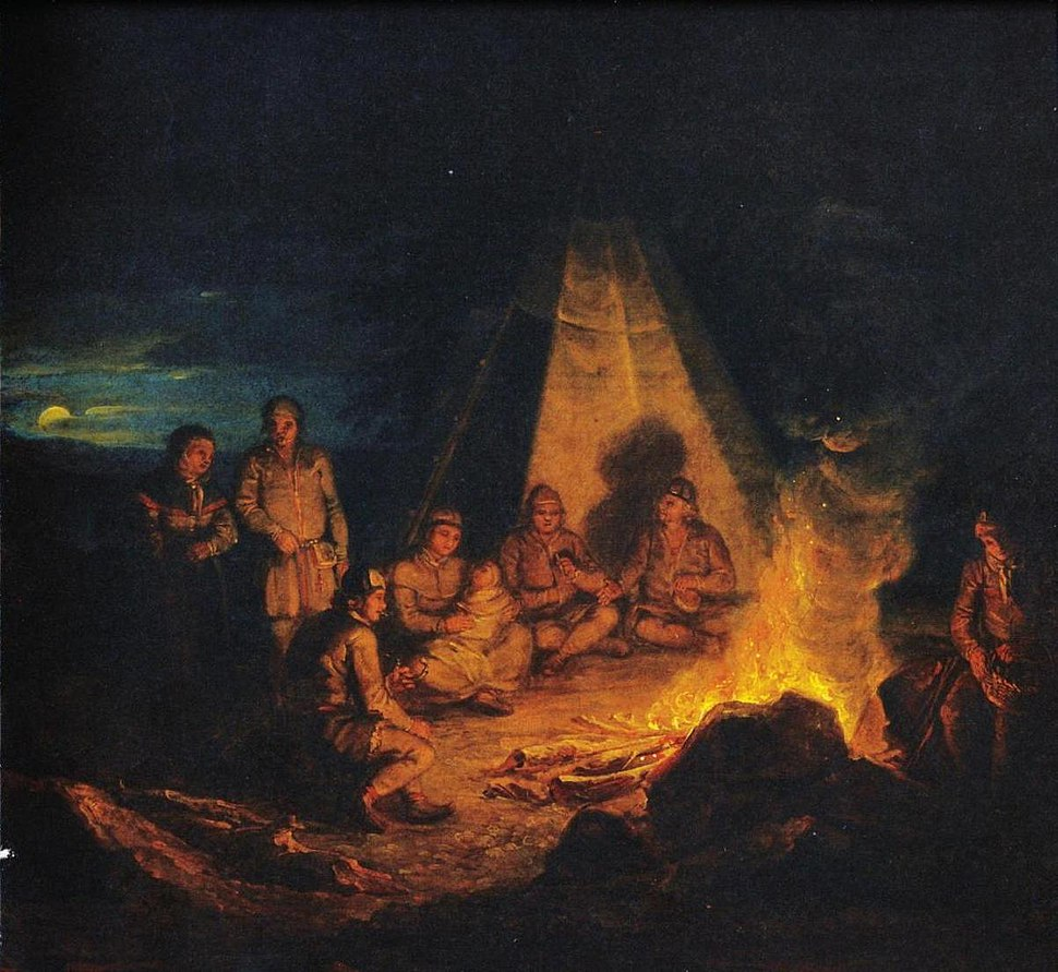 Laureus, Lappalaisia nuotiolla (cropped)