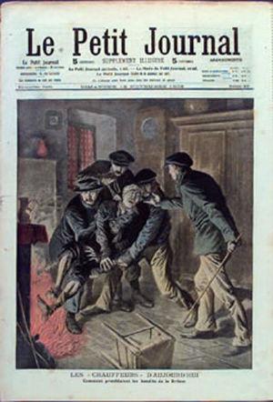 Chauffeurs de la Drome - The Chauffeurs de la Drome torture a victim, Le Petit Journal, 15 November 1908