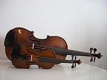 Un violino 1/16 accanto a un 4/4