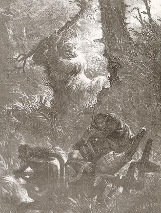 "Leshy - Drawing by Ivan Yizhakevych, ""Niva"" magazine, 1904"